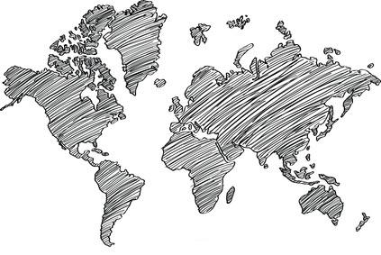 Turnbeutel mit Weltkarte und Leder oder auch zum ausmalen. Für deine nächste Weltentdeckertour.